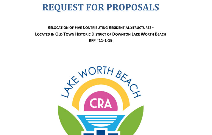 Partial image of front page of Request for Proposals document