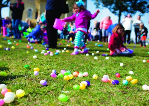 Image of children hunting eggs