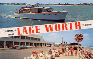Vintage Lake Worth postcard
