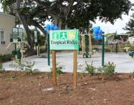 Image of Tropical Ridge playground sign